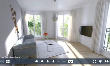 Projetez-vous dans votre futur appartement neuf grâce à une visite virtuelle en 3D à 360°